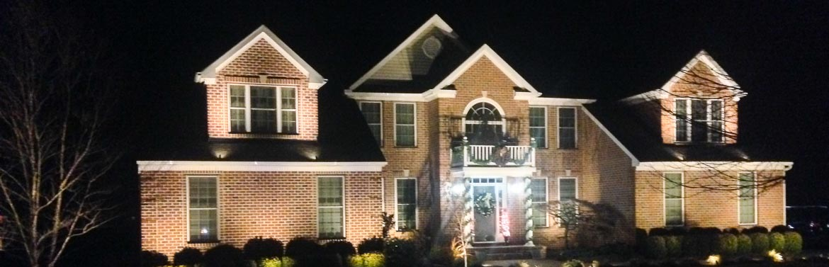 residential and commercial security lighting installation contractor in Maryland