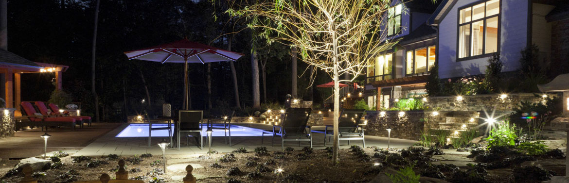 landscape lighting installation in New Windsor, Baltimore, Frederick, MD and Washington, D.C.